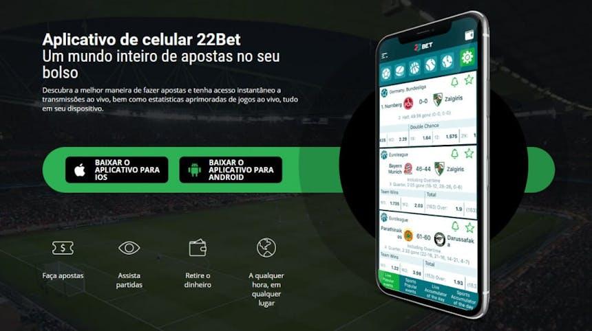 Aplicativo de celular da 22bet