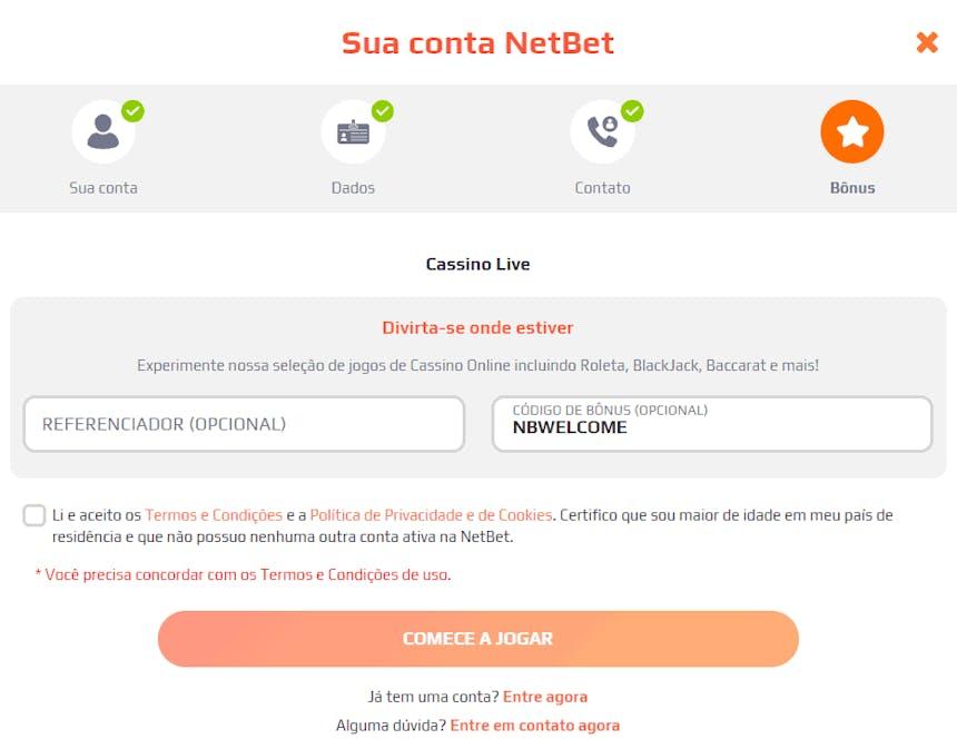 Bônus do Cassino Netbet
