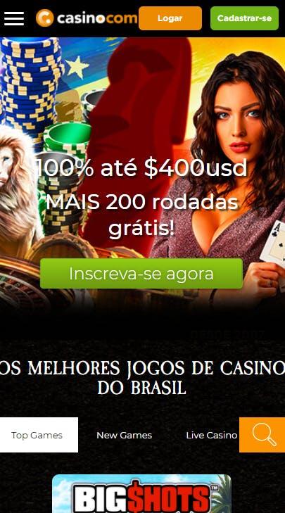 aplicativo da Casino.com para celular para Android E iPhone