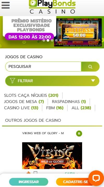 aplicativo da Playbonds para celular para Android E iPhone