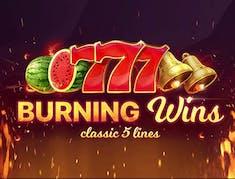 Burning Wins: classic 5 lines logo