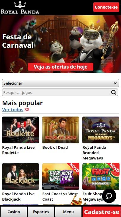 aplicativo da Royal Panda para celular para Android E iPhone