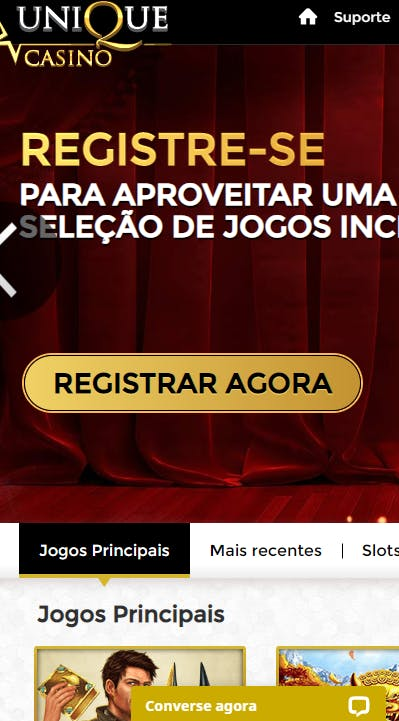 aplicativo da Unique Casino para celular para Android E iPhone
