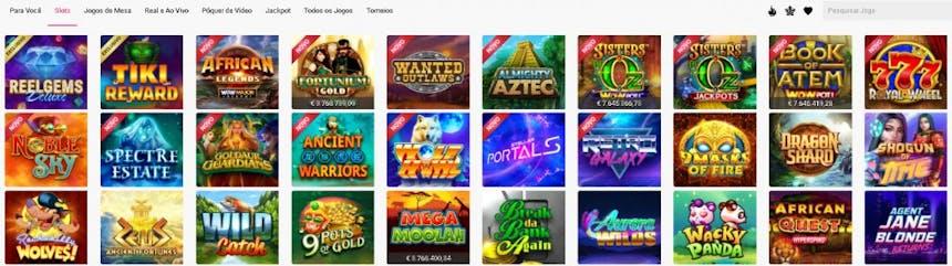 slots e caça-níqueis na Spin Casino