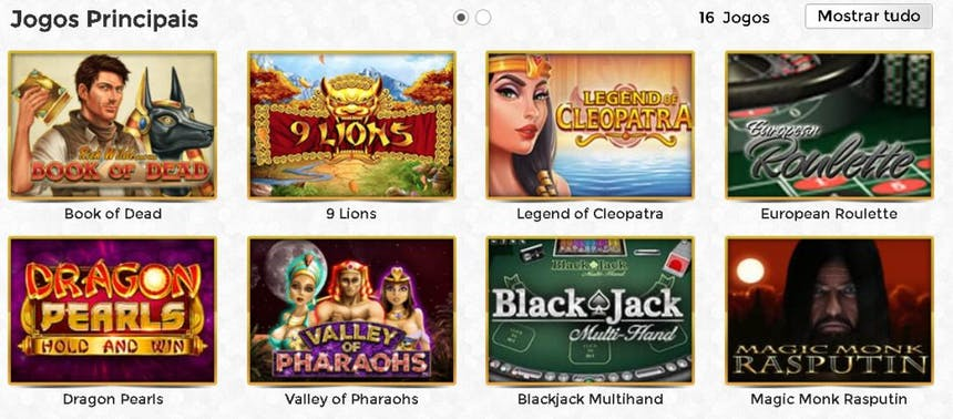 Jogos de cassino da Unique Casino