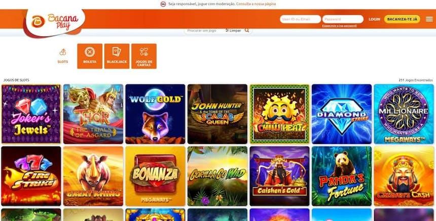 Melhores Jogos de Slot Machines Online em Bacana Play