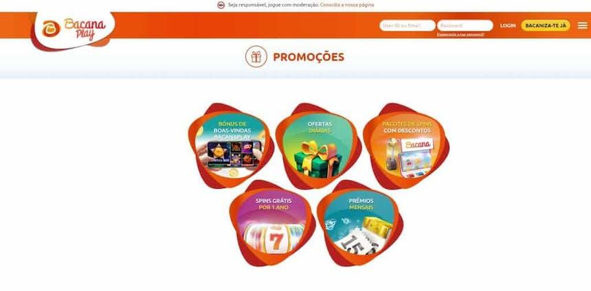 O Bacana Play oferece aos seus jogadores diversos bónus e promoções