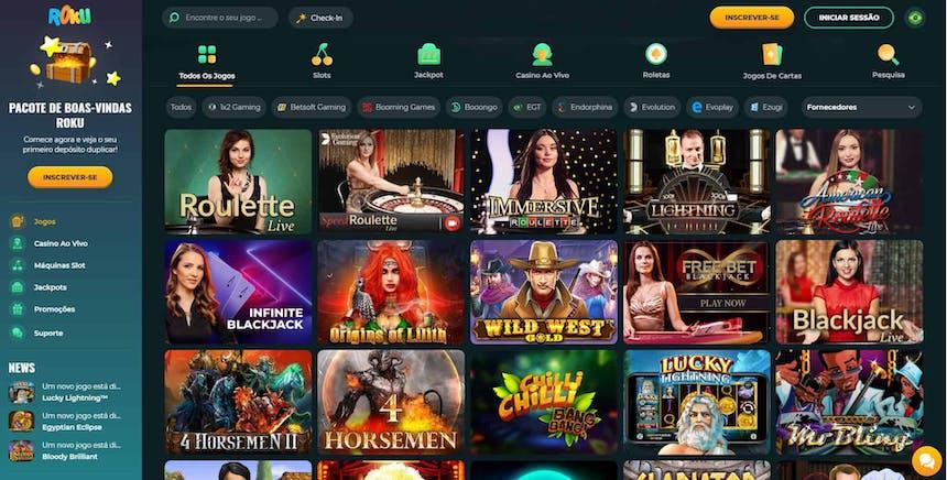 Jogos de cassino da Roku Casino