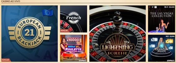 Casino ao vivo na QueenVegas